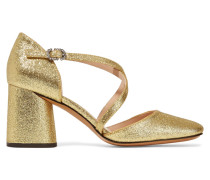 Haven Pumps Aus Leder Mit Glitter-finish - Gold