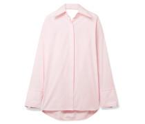 Oversized-hemd aus Baumwollpopeline mit Cut-out -
