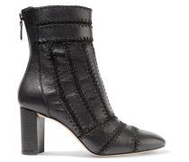 Beatrice Ankle Boots Aus Strukturiertem Leder Mit überwendlichstichdetails -