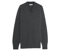 Oversized-pullover Aus Einer Woll-kaschmirmischung - Dunkelgrau