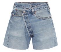 Crossover Asymmetrische Jeansshorts -