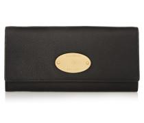 Portemonnaie Im Europäischen Stil Aus Strukturiertem Leder - Schwarz