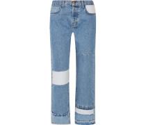 The Diy Hoch Sitzende Patchwork-jeans