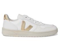 V-10 Sneakers aus Leder und Mesh