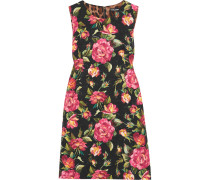 Minikleid Aus Jacquard Aus Einer Baumwollmischung Mit Blumenprint -