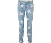 Bedruckte Boyfriend-jeans -
