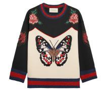 Sweatshirt aus bondiertem Baumwoll-Jersey mit Stickerei