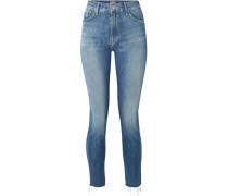 Looker Verkürzte, Hoch Sitzende Skinny Jeans Mit Fransen -