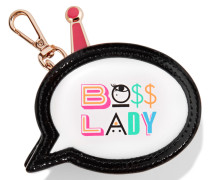 Boss Lady Münzbörse Aus Bedrucktem Leder - Weiß