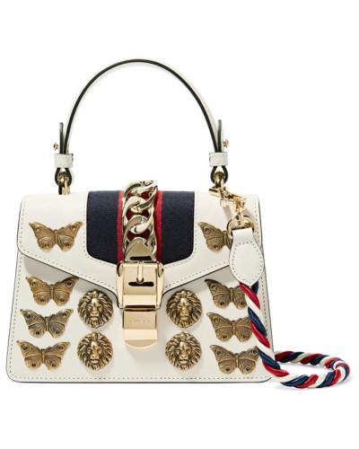 Gucci Damen Sylvie Mini Verzierte Schultertasche aus Leder und Canvas Rabatt Großer Verkauf Frei Für Verkauf Preiswert Real Für Verkauf Billigshop 1X6Vx4wP