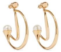 Darcey vergoldete Ohrringe mit Kunstperlen