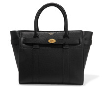 The Bayswater Zipped Small Textured-leather Tote - Schwarz