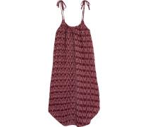 Bedrucktes Kleid aus Baumwoll-Gaze