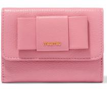 Portemonnaie aus struktuiertem Leder mit Schleifenverzierung
