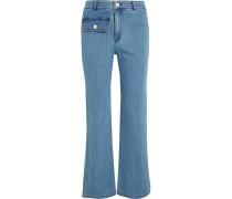 Hoch Sitzende Jeans Mit Geradem Bein -