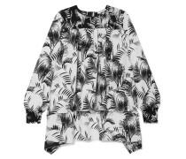 Bedruckte Bluse aus Gehämmertem Crêpe mit Raffungen -