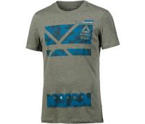 Crossfit Printshirt Herren, grün