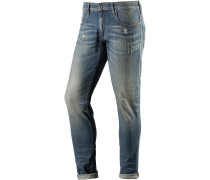 Revend Slim Fit Jeans Herren, used blue denim