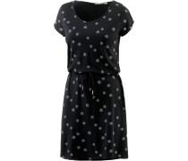 Jerseykleid Damen, schwarz