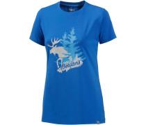 Elk Printshirt Damen, blau