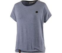 Die Gedudelte II T-Shirt Damen, blaugrau melange