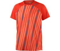 Tennisshirt Herren, orange/allover