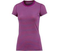 Sprite Unterhemd Damen, lila/koralle/gestreift