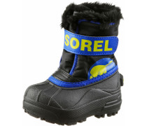 Commander Winterschuhe Kinder, Black Super Blue