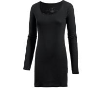 Zena Micro Rib Jerseykleid Damen, schwarz