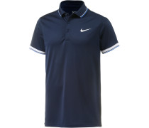 Court Polo Tennisshirt Herren, blau