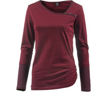 Langarmshirt Damen, red wine