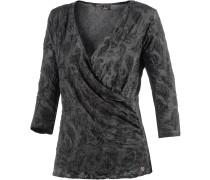 V-Langarmshirt Damen, grau