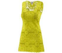Croched Dress Kurzarmkleid Damen, gelb