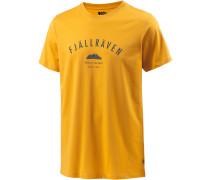 Trekking Equipment Printshirt Herren, gelb