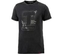 Printshirt Herren, anthrazit washed