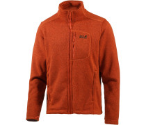 Caribou Track Strickfleece Herren, orange