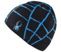 Web Beanie Herren, black/french blue