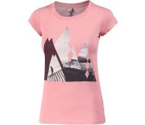 Stairy Printshirt Damen, rosa