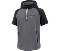 Hoodie Herren, TRUE GRAY HEATHER/BLACK/BLACK
