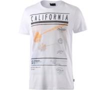 Coast Printshirt Herren, weiß