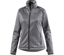 Gavarnie Fleecejacke Damen, schwarz/allover
