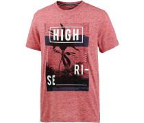 Printshirt Herren, rot melange