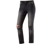 onlGemma Straight Fit Jeans Damen, schwarz