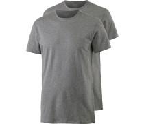 Shirt Doppelpack Herren, grau