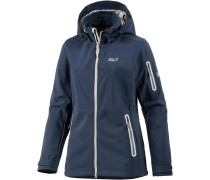 Central Valley Softshelljacke Damen, blau