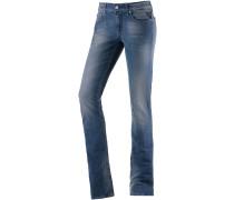 Vicki Straight Fit Jeans Damen, used blue denim