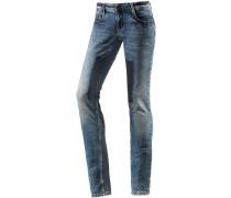 Piper Skinny Fit Jeans Damen, blau