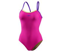 Thinstrap Schwimmanzug Damen, rosa