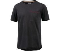 Solid T-Shirt Herren, schwarz
