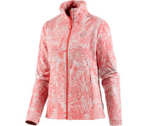 Kiruna Jungle Fleecejacke Damen, rotorange/allover